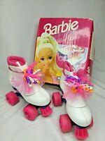 Vintage 1992 Brookfield Barbie Doll Kids Junior Girls Pink Roller Skates Size 12