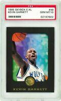 1995 Skybox E XL #49 KEVIN GARNETT Rookie Card RC PSA 10 Timberwolves KG