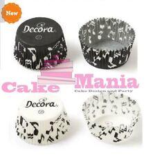 Decora 75 Pirottini Cupcake Muffin con Note musicali Pirottino Bianco e Nero
