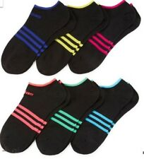 Adidas Women's Climalite Compression No Show Socks 6 Pack  Shoe Size 5-10