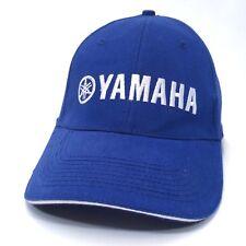 YAMAHA Baseball Hat Motorsports Company Embroidered Strapback Cap Blue Lid    c5