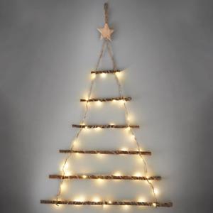 Wall Hanging Christmas Twig Tree 40 Warm White Led Lights Xmas Decoration  64cm