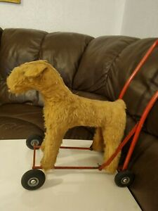 Vintage Pedigree Soft Toys Mohair Fox Terrier Dog Play Worn Vintage