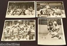 1981 - NHL - ORIGINAL MEDIA / PRESS - NY RANGERS & ... - ACTION PHOTOS - (4)