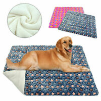 Pet Beds for Small Large Dogs Cats Sleep Mat Cushion for Kennel Crates Grey S-XL