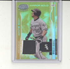 Magglio Ordonez jersey card /25 2003 Leaf Certified mirror gold NM White Sox