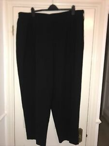 Jones New York Platinum Collection Black Dress Trousers Pants Plus US 24W UK 28
