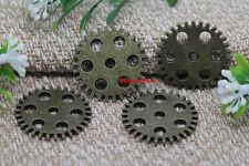 Lot 15pcs Antique Bronze Lovely Filigree Gear Charm Pendant Amulet pendant 25mm