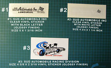SUD AUTOMOBILE INC RACING DIVISION - LONGUEUIL - VINYL DECAL STICKER-FORD DEALER