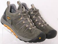 Keen Bryce Waterproof Gray Lace-Up Bump Toe Nubuck Hiking Shoes Men's US 9.5
