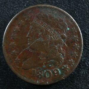 Half cent 1809 United States of America Classic Head copper 1/2 ¢ c USA
