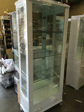 A686 High Gloss Polyurethane Glass Display Cabinet Show Case Storage