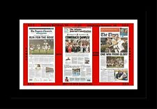 GEORGIA BULLDOGS BEAT OKLAHOMA IN BCS MATTED PIC OF NEWSPAPER FRONT PAGES #2