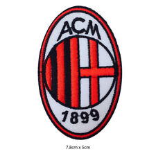 ACM Milan Football Club Embroidered Patch Iron on Sew On Badge For Clothe etc