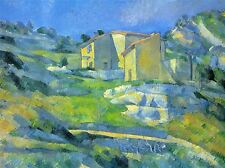 PAUL CEZANNE HOUSE IN PROVENCE OLD MASTER ART PAINTING PRINT POSTER 2062OMA