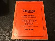 TRIUMPH TROPHY 250 TR25W 250cc ILLUSTRATED SPARE PARTS MANUAL OEM SPC.10 1969