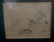 Antique (Pre-1900) Landscape Art Drawings
