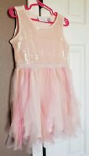 The Children's Place Party Wedding Flower Girl Easter Dress Pink Sequins Size 4T