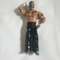 Rey Mysterio WWE Jakks Ruthless Aggression Era Wrestling Figure blue & gold mask