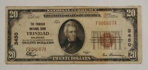 Trinidad, CO - 1929 $20 The Trinidad NB - Ch# 3450