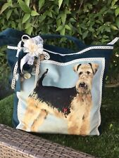 Handmade Airedale Dog Tote Bag