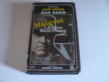 MAIGRET ET L'AFFAIRE SAINT FIACRE AVEC JEAN GABIN K7VIDEO RENE CHATEAU