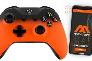 """""""Shadow Orange"""" Smart Rapid Fire Custom Modded Controller for Xbox One S  FPS"""