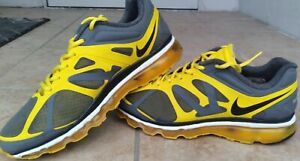 Nike Air Max 2011 Mens 9.5 Yellow, Grey