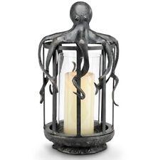 "Octopus Lantern Hurricane Candleholder Coastal Nautical Ocean Candle Holder 19""H"