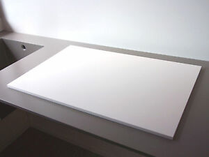 DuPont Corian Schneidbrett / Servierplatte glacier white, perfekter Schliff