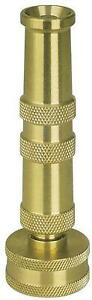 4 inch Solid Brass Heavy Duty Adjustable Twist Garden Hose Nozzle Jet Spray