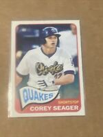 2014 Topps Heritage Minors Corey Seager Rookie Card #22 Rancho Cucamonga Quakes