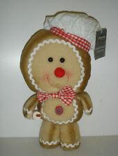 Nuevo Suave Juguete Figura de Navidad de pan de jengibre Hombre Decoración 33cm
