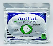 ActiCuf MALE URINE INCONTINENCE POUCH,10 CT BAG, DISCREET, ONE SIZE FITS ALL