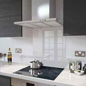Clear Glass Splashback - Toughened - Made to measure - Free Screws