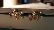 Gold Mortality Skull & Crossbones cuff links