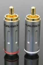 2pcs 1 pair  FURUTECH FP-162(G) FP-162 RCA Connector Male Plug Japan
