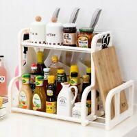 Kitchen Shelf Rack Organizer Condiment Spice Bottles Pepper Knife Storage Holder
