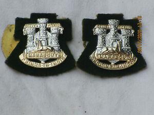 Devon & Dorset Regiment, Collar badges,  Kragenabzeichen,Paar,Anodised Aluminium