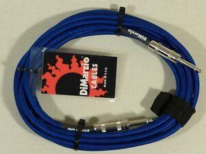 Dimarzio BLUE 5.5m 18 Foot Guitar Bass Quality Instrument Cable Lead USA Made