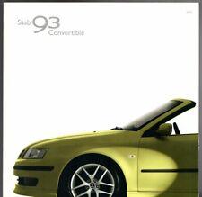 Saab 9-3 Convertible 2004-05 UK Market Sales Brochure Linear Vector Aero