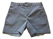 BANANA REPUBLIC Womens Size 6 Blue Ivory Striped Seersucker Cotton Shorts