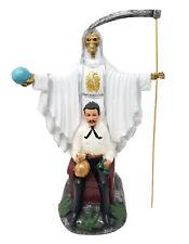 "16"" White Santa Muerte & Jesus Malverde Statue Grim Reaper Holy Death"