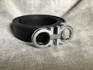 SALVATORE FERRAGAMO Mens Metal Buckle Leather Belt