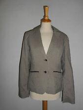 20 188/10 Flame blazer mujer + chaleco talla M Marrón Beis DE CUADROS vichykaro