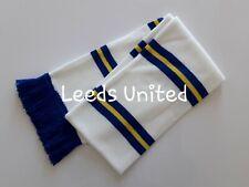 Leeds United FC Football Scarves White Blue/Yellow Bar Scarf LUFC Memorabilia