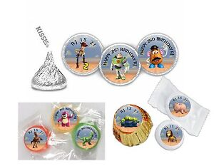 216 Toy Story Birthday Hershey Kiss Labels Favors Stickers Personalized ANY