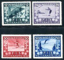 ÖSTERREICH 1933 551-554 ** POSTFRISCH FIS I TADELLOS 650€(Z1325