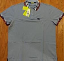 409efdd4e8ab  225 Mens Authentic Versace Jeans Graphic Edge Polo Shirt Light Blue XL