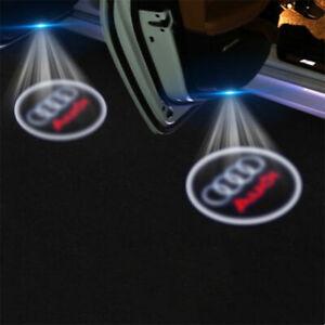 2 PCS Audi LED Projector Car Door Lights Laser Logo Courtesy Puddle Shadow Lamps